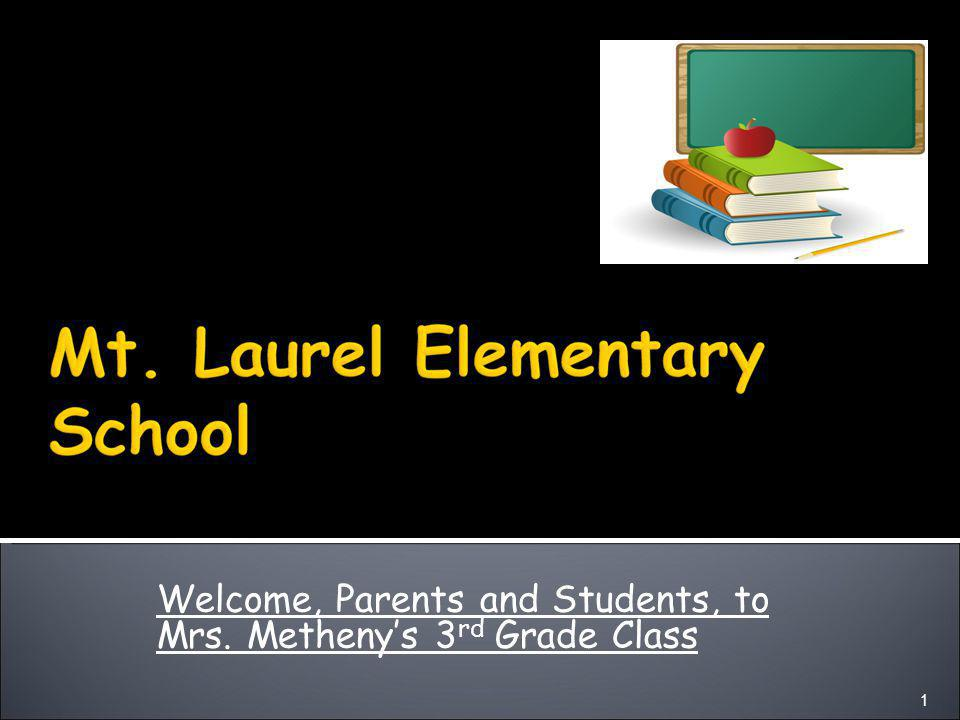 Welcome, Parents and Students, to Mrs. Metheny's 3 rd Grade Class 1
