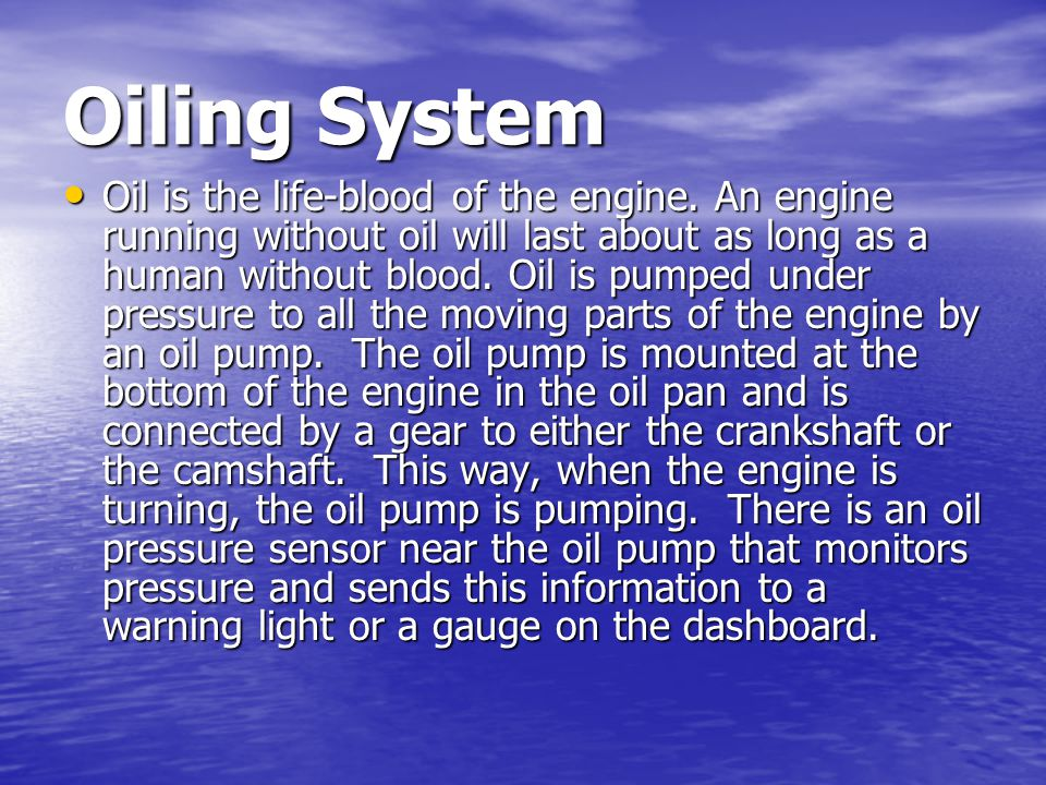 Engine Cooling Internal combustion engines must maintain a stable operating temperature, not too hot and not too cold.