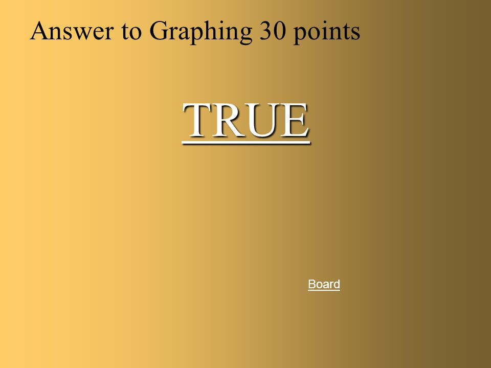 Graphing for 30 points board True or False We only graph the averages not the trials. Answer