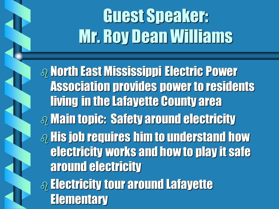Guest Speaker: Mr.