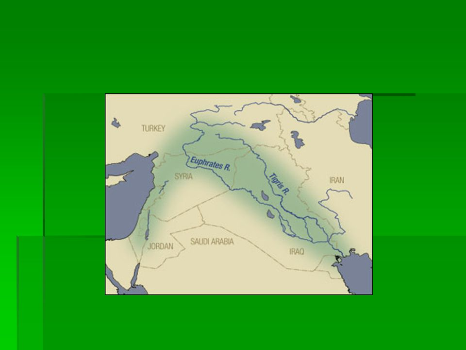  Geography-  Lies between the Tigris and Euphrates rivers  Modern day Iraq  Why did people settle there.