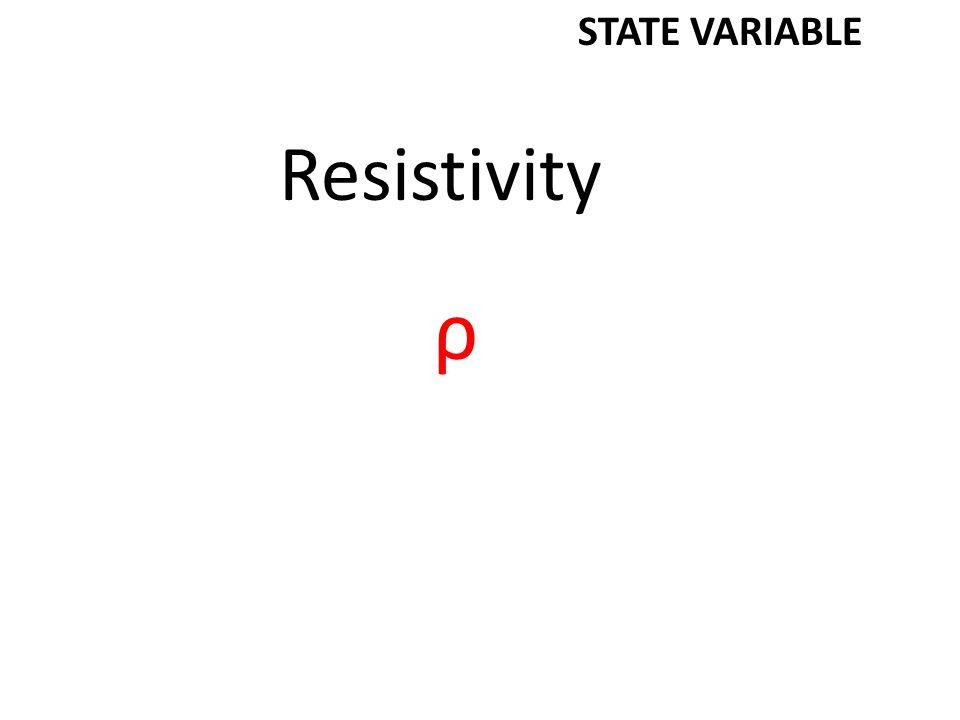 Resistivity ρ STATE VARIABLE