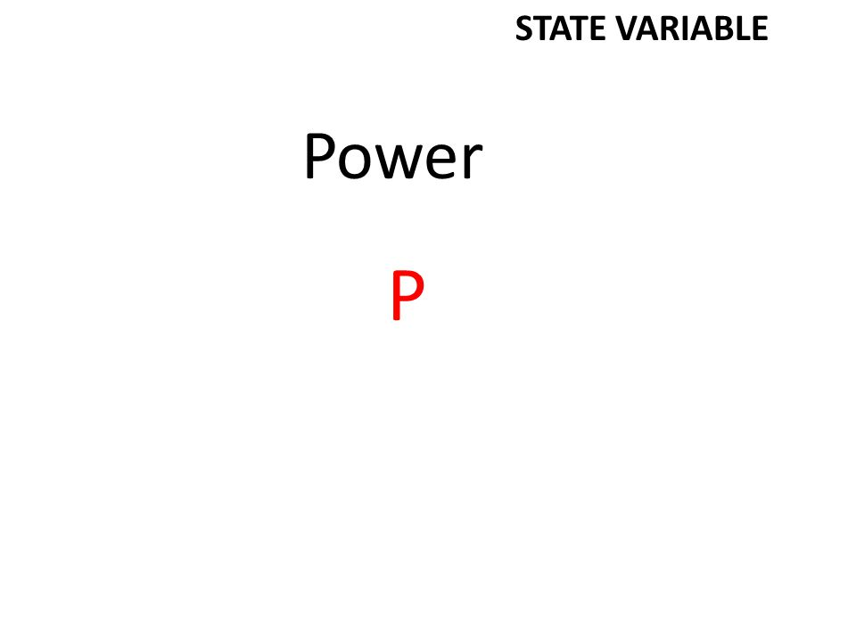 Power P STATE VARIABLE