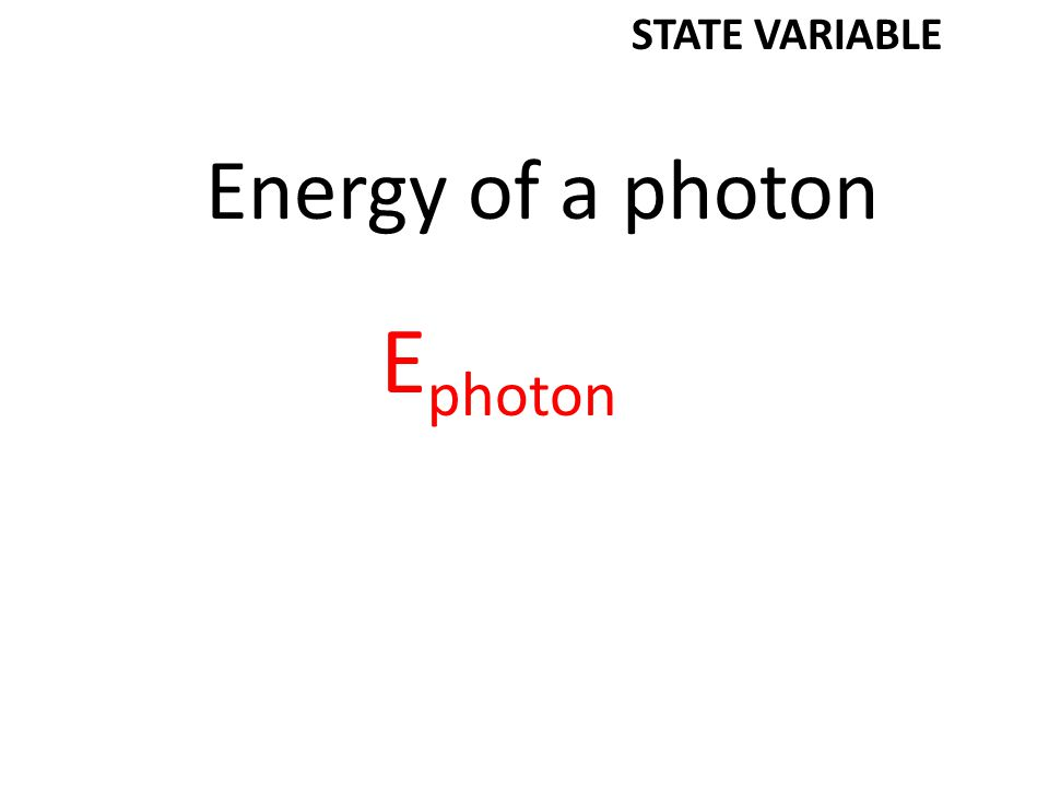 Index of refraction n STATE VARIABLE