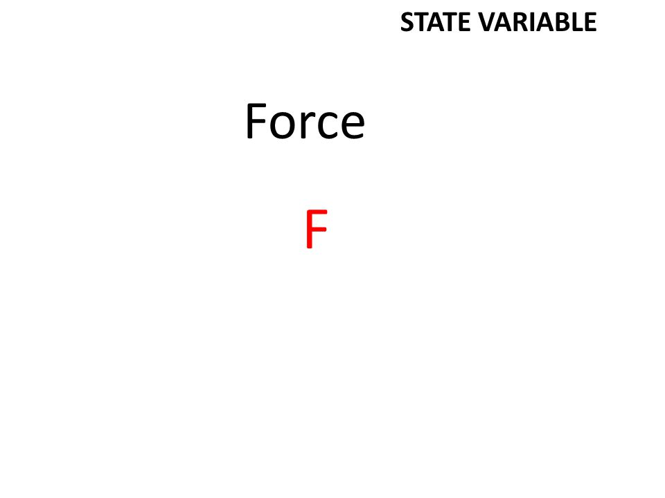 Force F STATE VARIABLE
