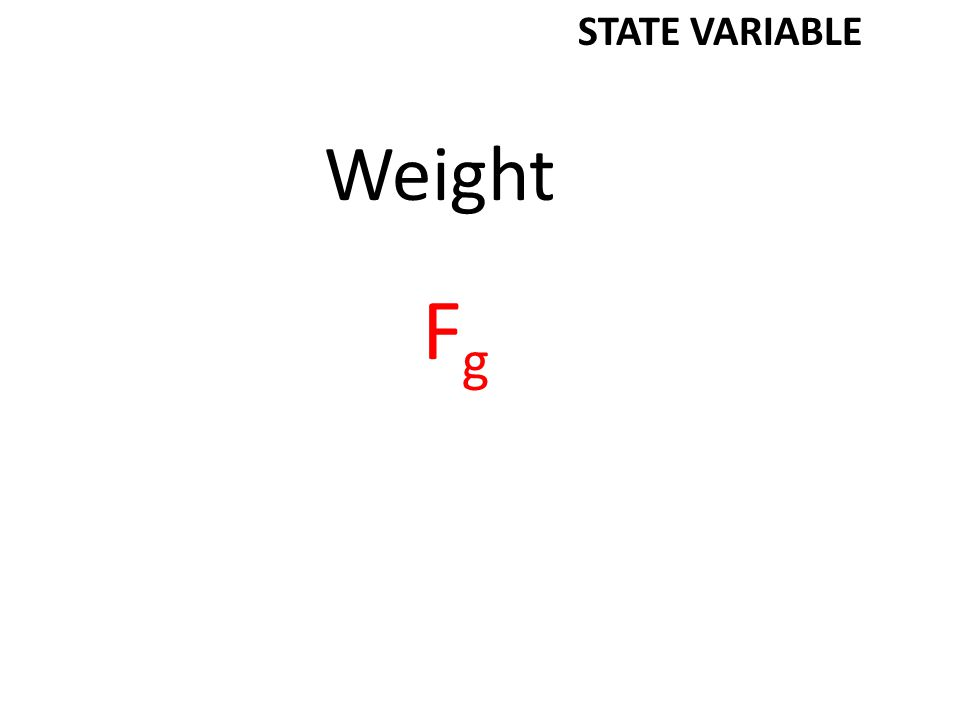 Weight FgFg STATE VARIABLE