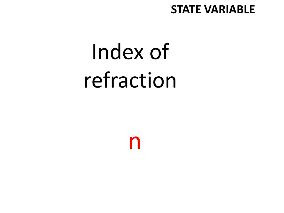 Electrostatic constant k STATE VARIABLE