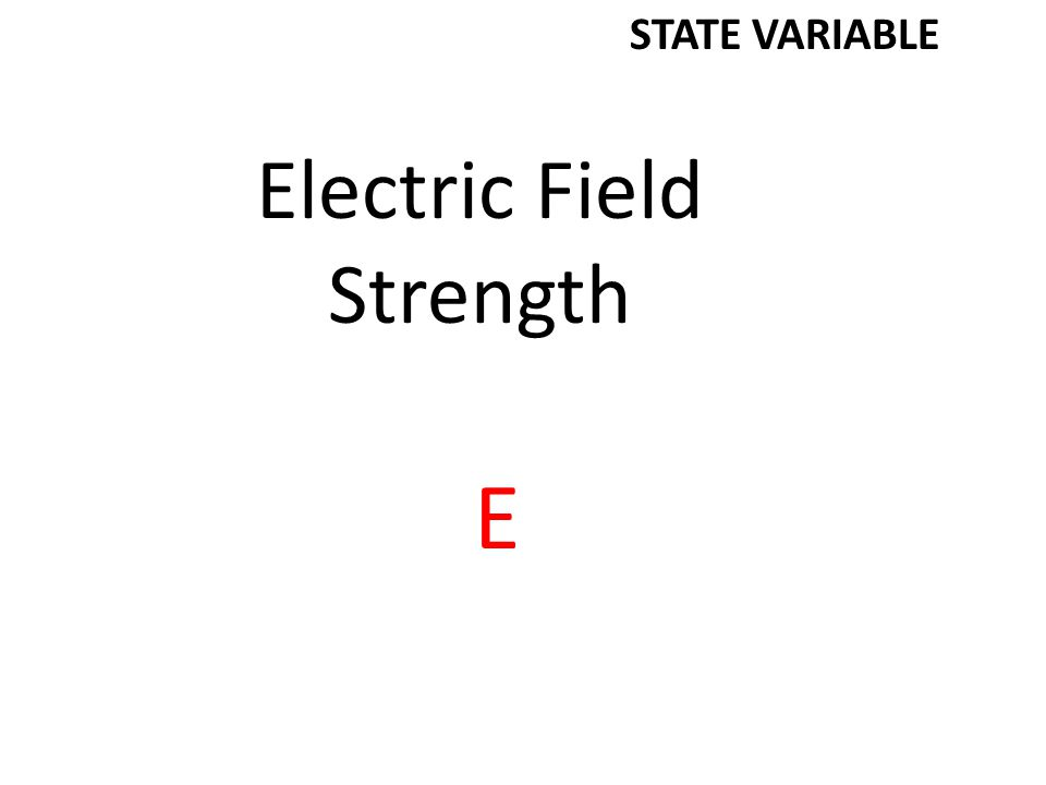 Electric Field Strength E STATE VARIABLE