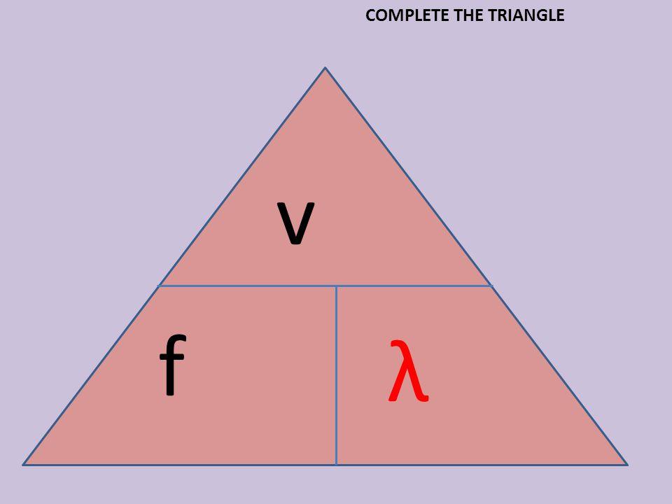 v f λ