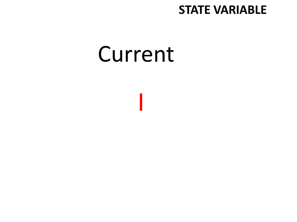 Work W STATE VARIABLE