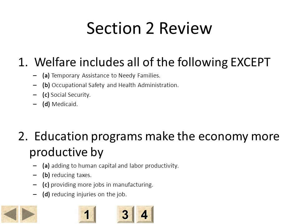 Section 2 Review 1.