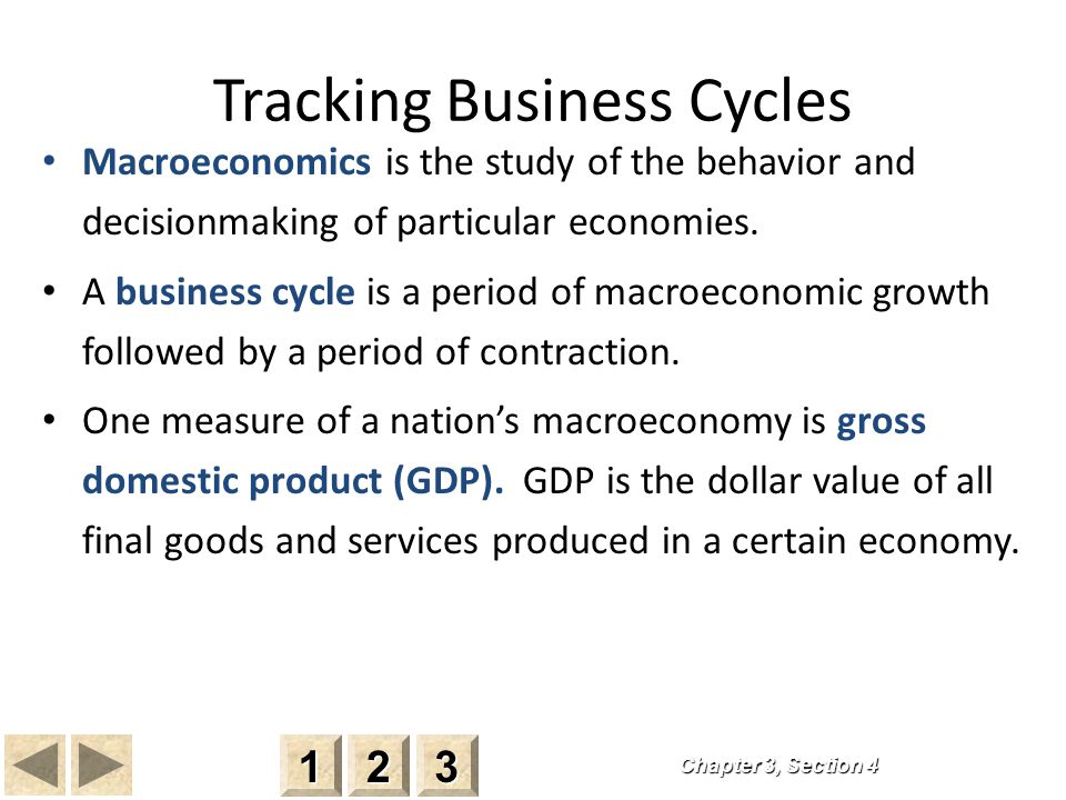 Tracking Business Cycles Macroeconomics is the study of the behavior and decisionmaking of particular economies.