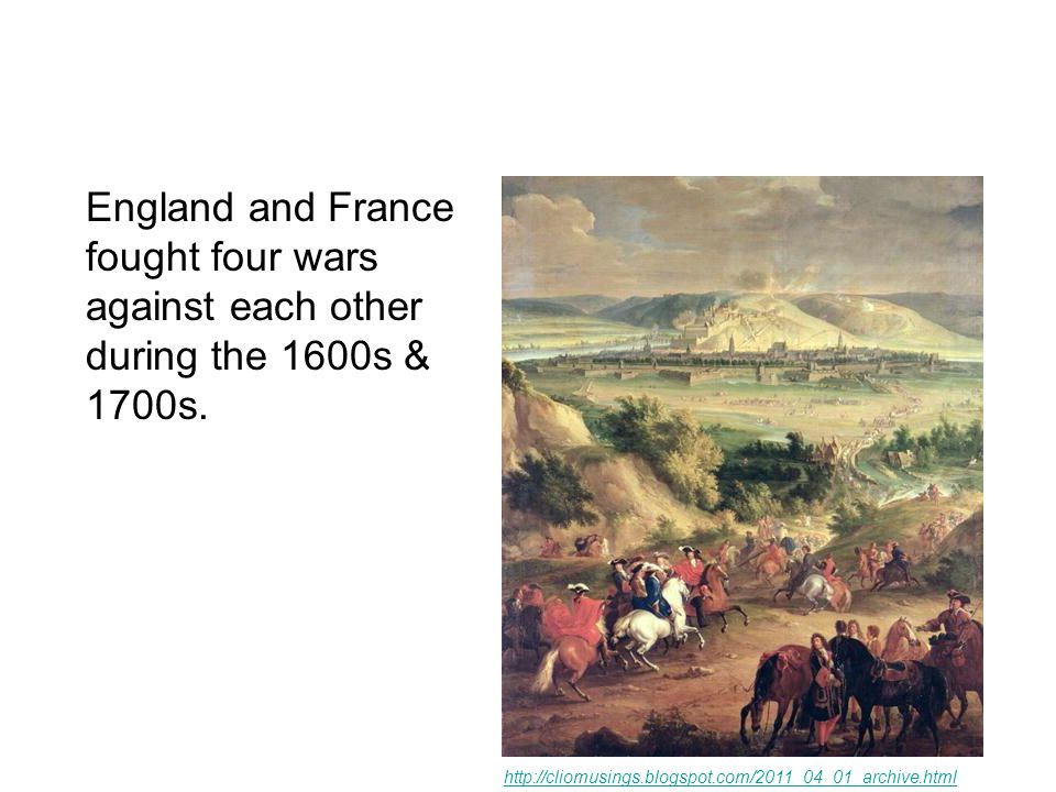 The last and most important of these conflicts was the French and Indian War.