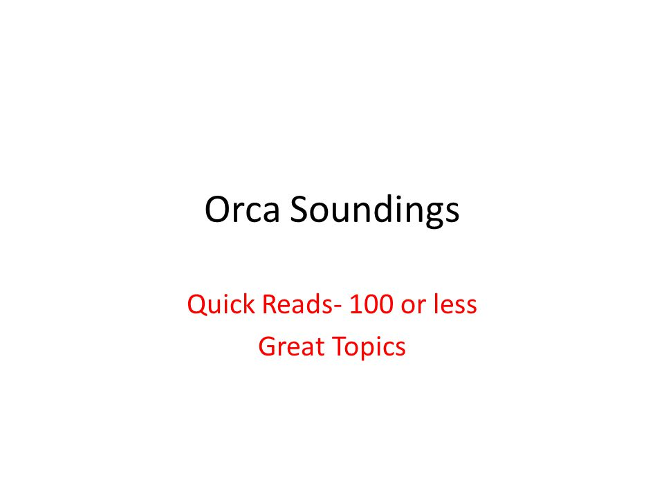 Orca Soundings Quick Reads- 100 or less Great Topics