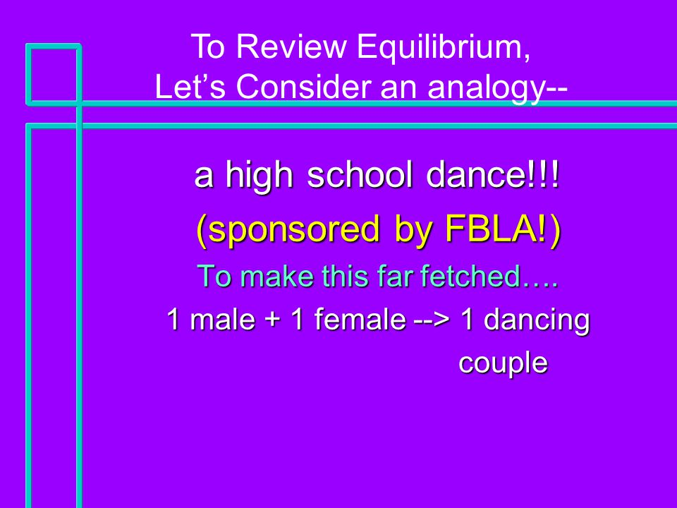 a high school dance!!. (sponsored by FBLA!) To make this far fetched….