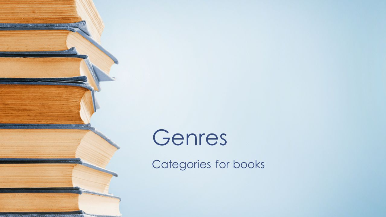 Genres Categories for books