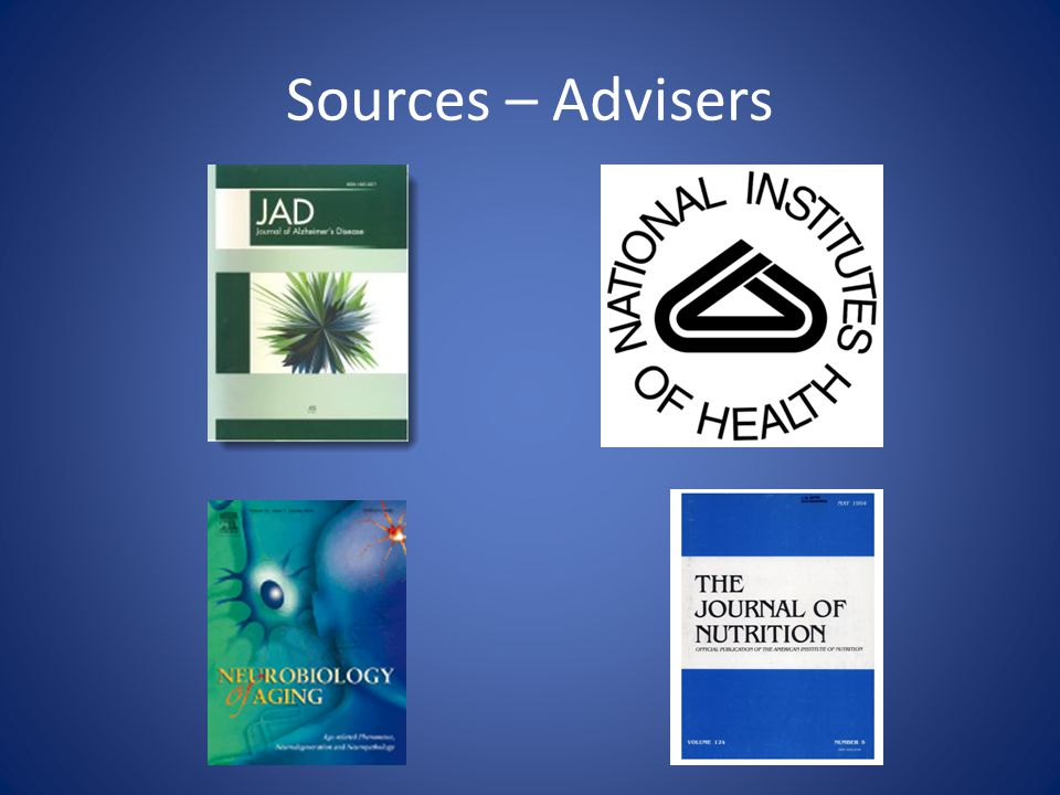 Sources – Advisers