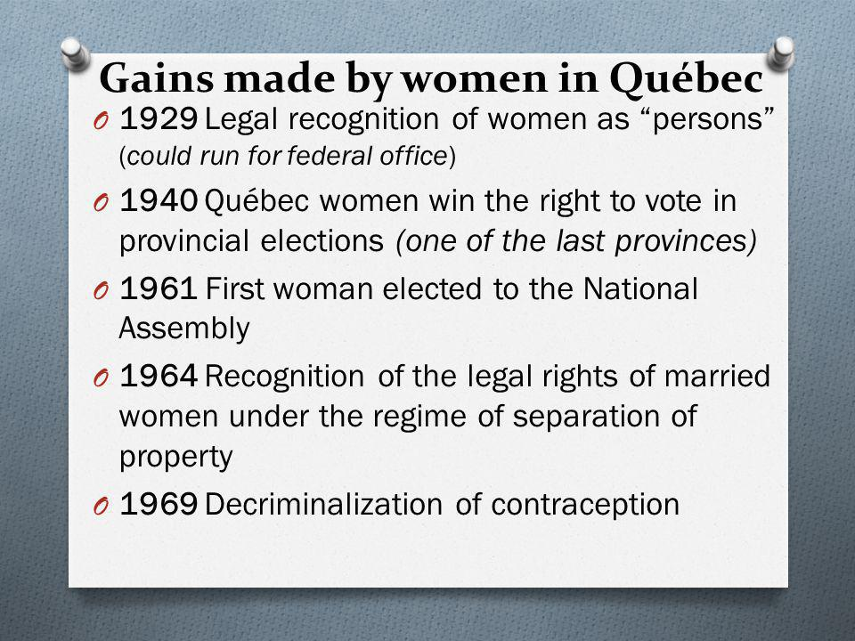 Modernization of Quebec O From 1929 to 1980, Québec society underwent major changes: O Technological Developments: Hydro Power O Secularization : The move away from the Church.