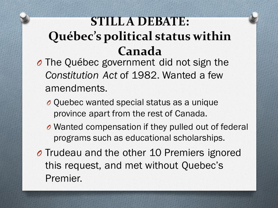 The Debate from 1982 on… O Queen Elizabeth II and Canadian Prime Minister Pierre E.