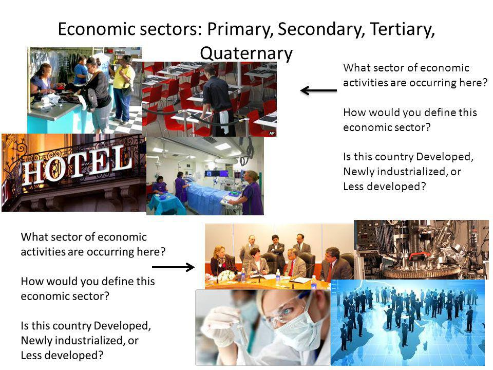 What sector of economic activities are occurring here? How would you define this economic sector? Is this country Developed, Newly industrialized, or