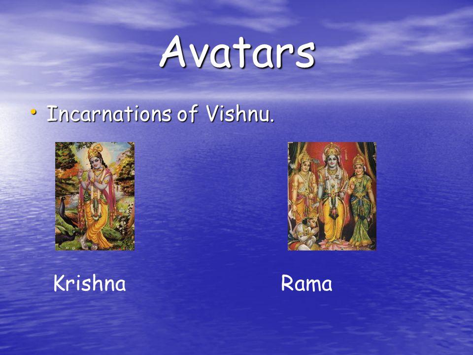 Avatars Incarnations of Vishnu. Incarnations of Vishnu. KrishnaRama