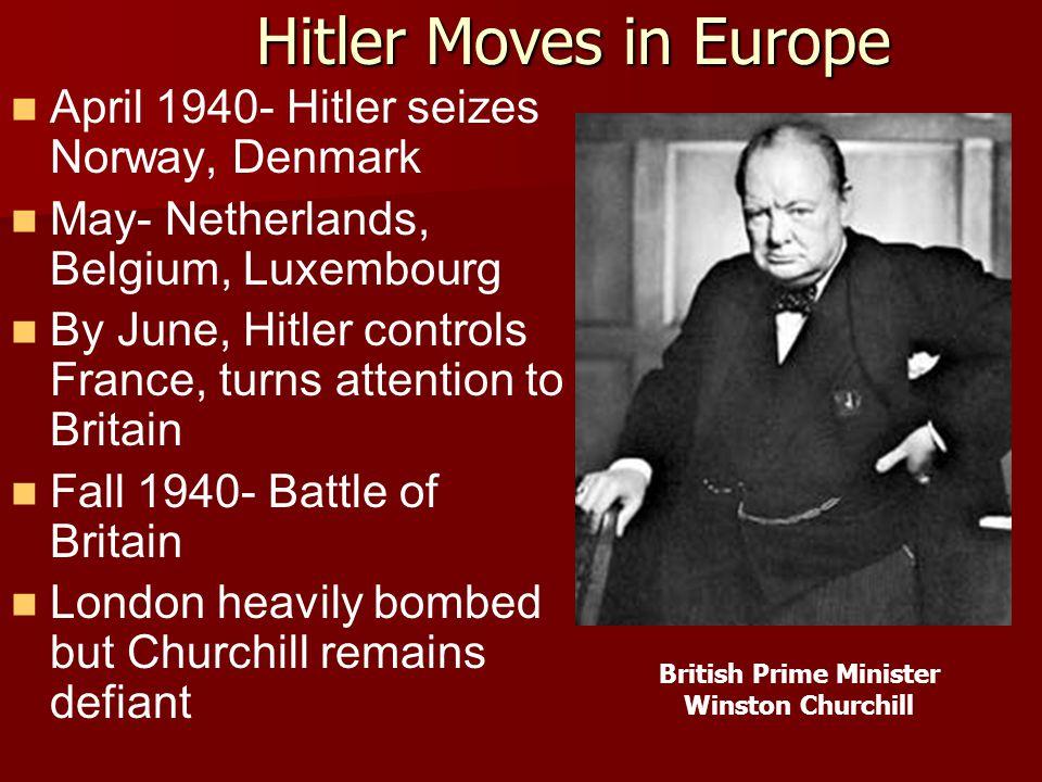 World War II (1939- 1941) Hitler's Wild Ride in Europe While the U.S. Watches