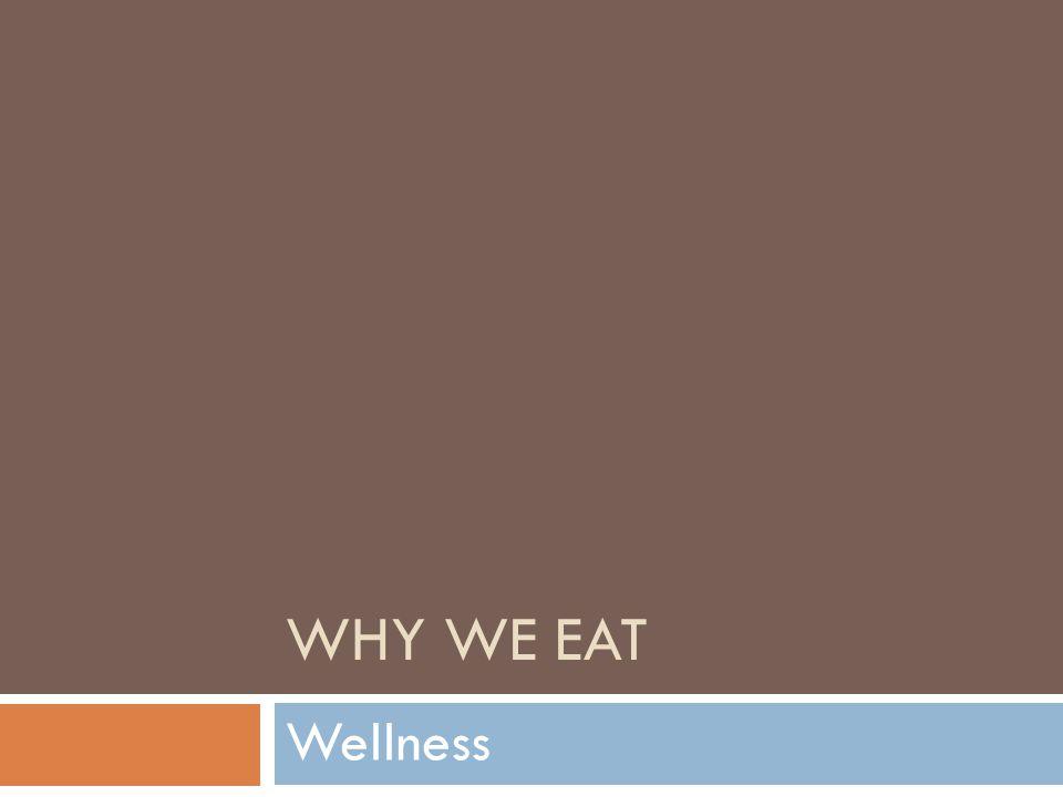 WHY WE EAT Wellness