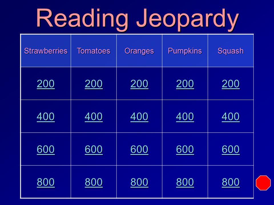 Jeopardy Reading