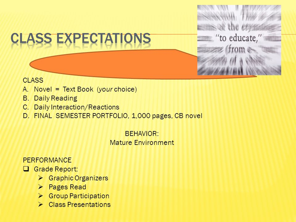 What is this class all about? Comprehension Rate Exposure Experience