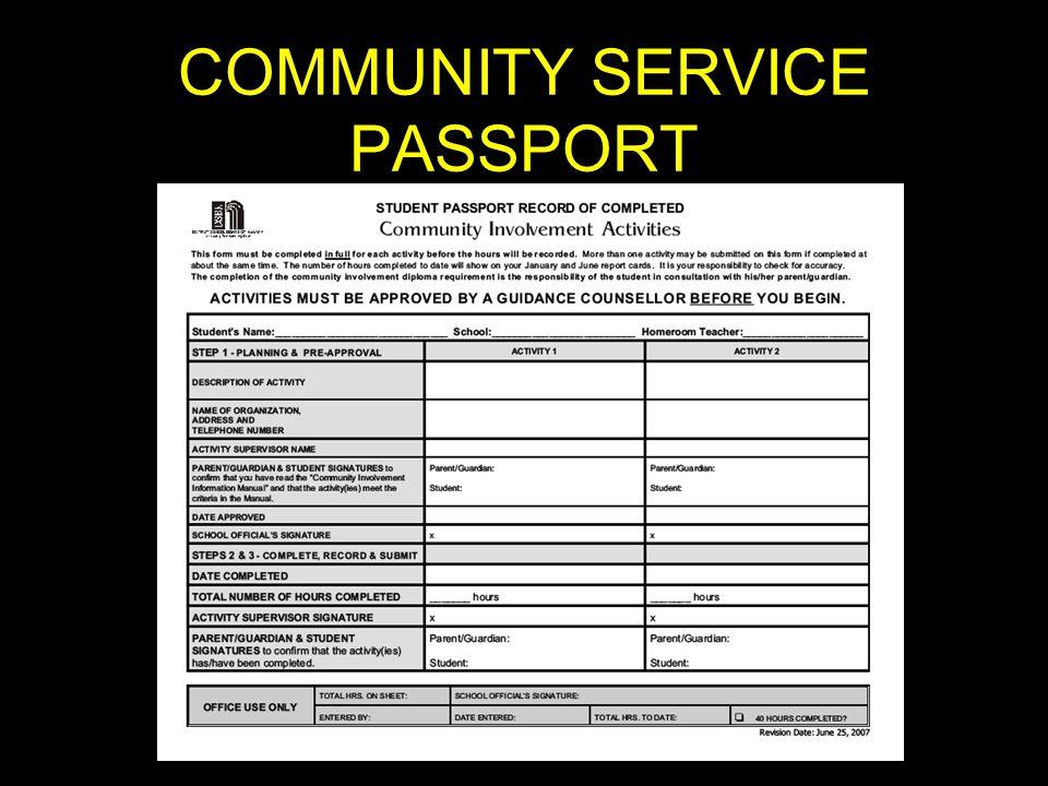 COMMUNITY SERVICE PASSPORT