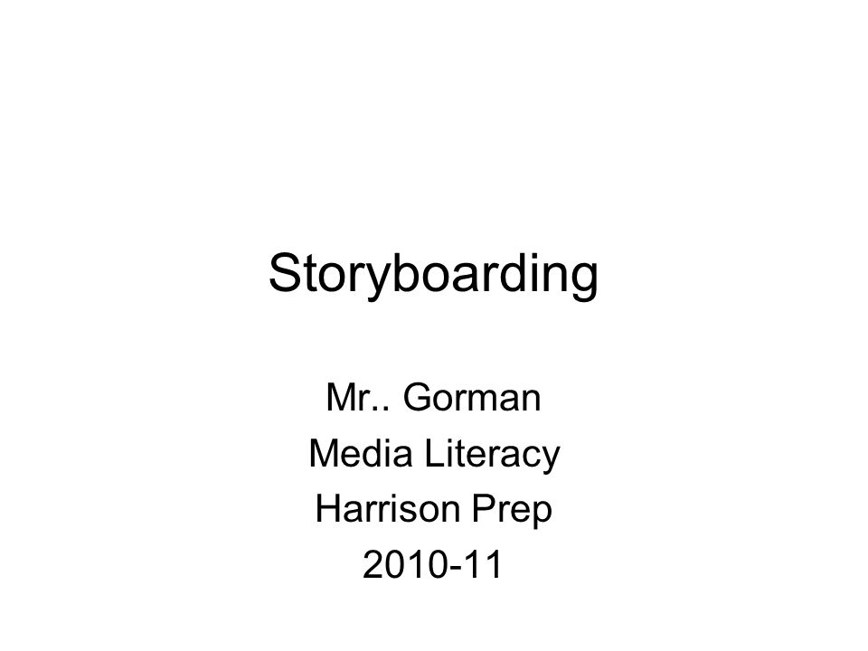 What are Storyboards.