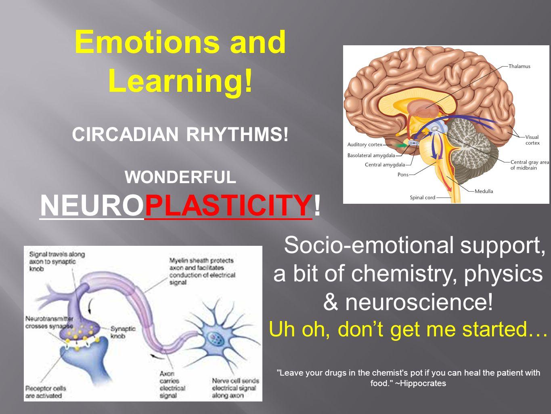 Socio-emotional support, a bit of chemistry, physics & neuroscience.