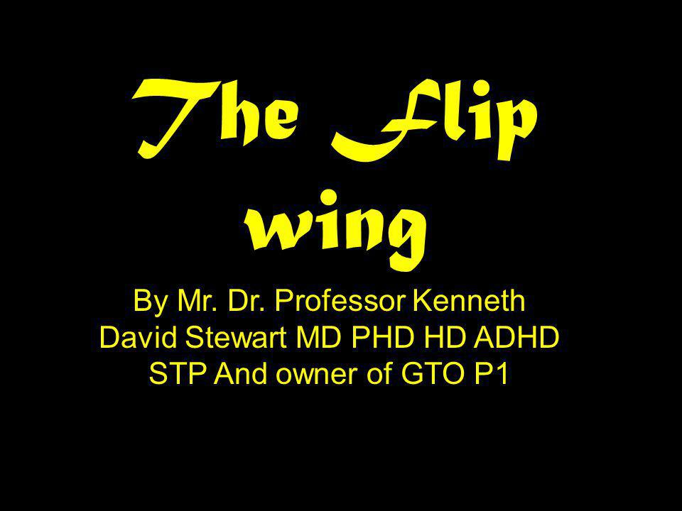 The Flip wing By Mr. Dr. Professor Kenneth David Stewart MD PHD HD ADHD STP And owner of GTO P1