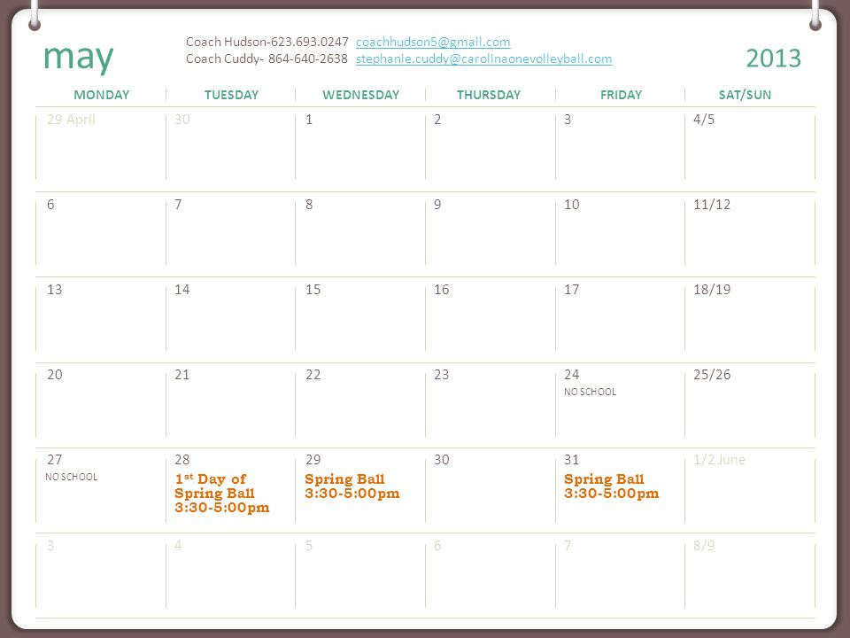 MONDAYTUESDAYWEDNESDAYTHURSDAYFRIDAYSAT/SUN 2013 Note: You can print this template to use as a wall calendar. You can also copy the slide for any mont