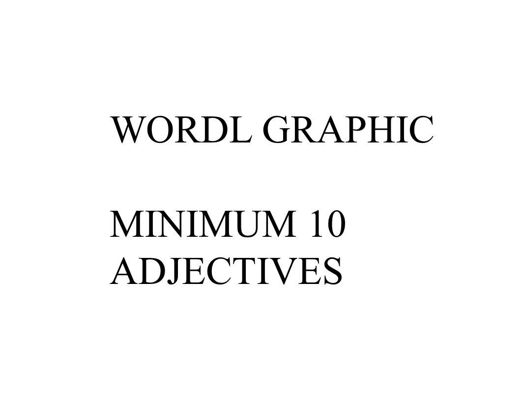 WORDL GRAPHIC MINIMUM 10 ADJECTIVES