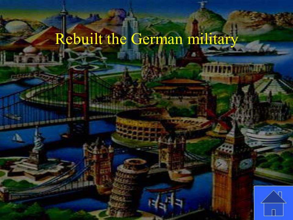 Rebuilt the German military