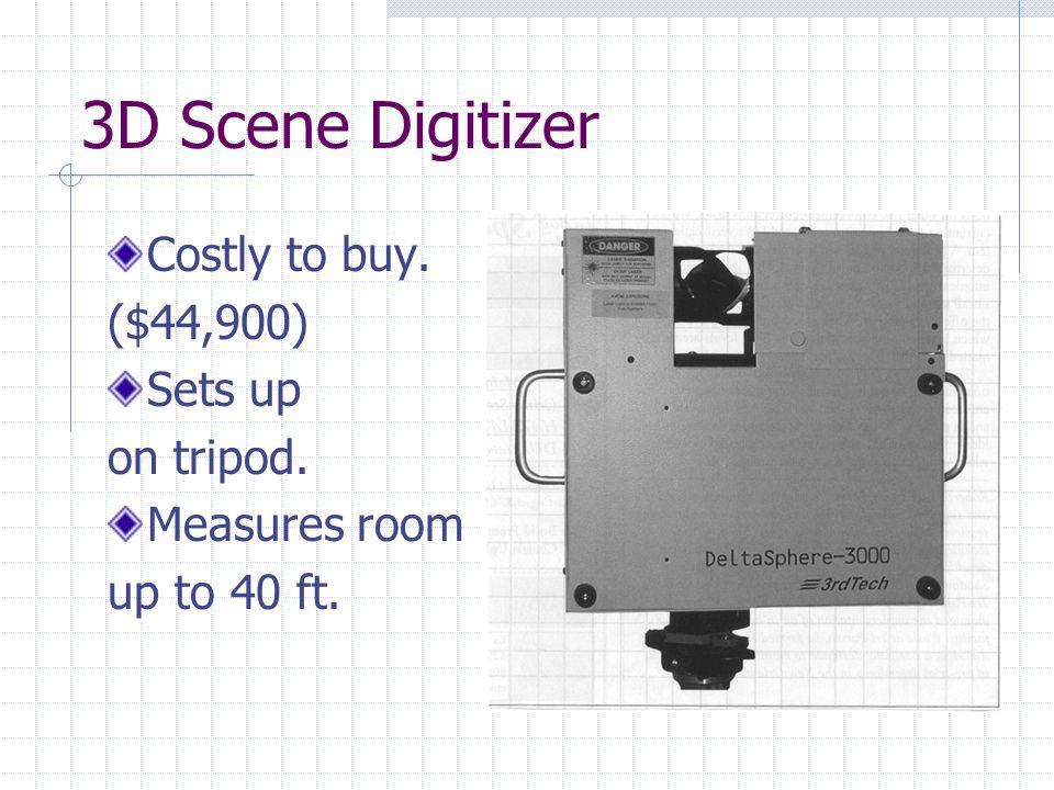 3D Scene Digitizer Can create a wire-frame mesh . (3D model of a scene)