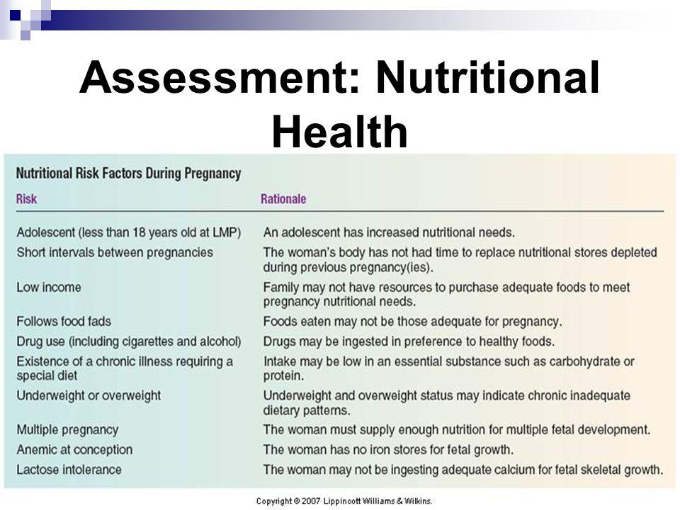 Assessment: Nutritional Health