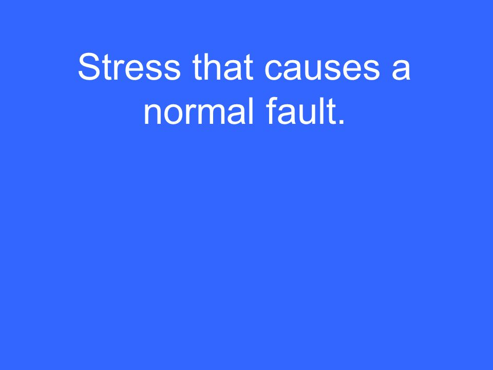 Stress that causes a normal fault.