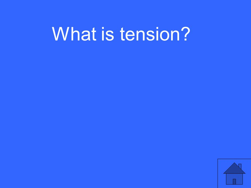 What is tension?