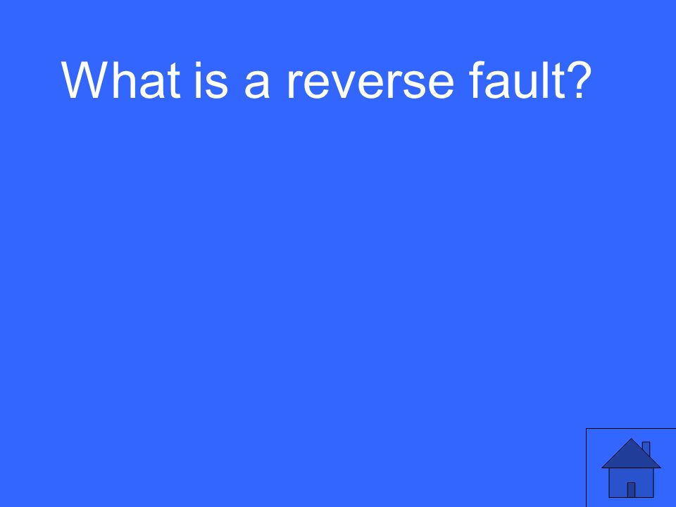 What is a reverse fault?