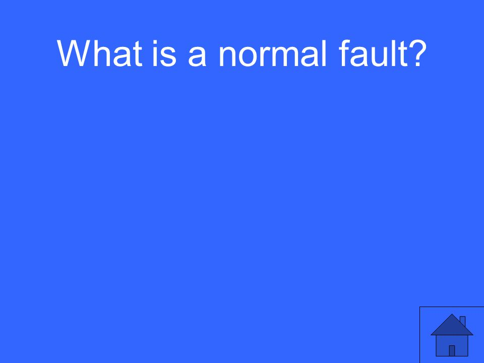 What is a normal fault?