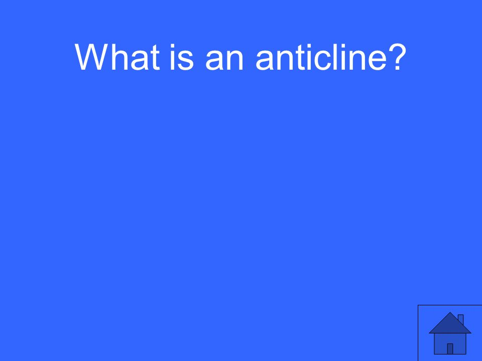 What is an anticline?