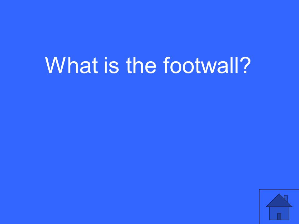 What is the footwall?