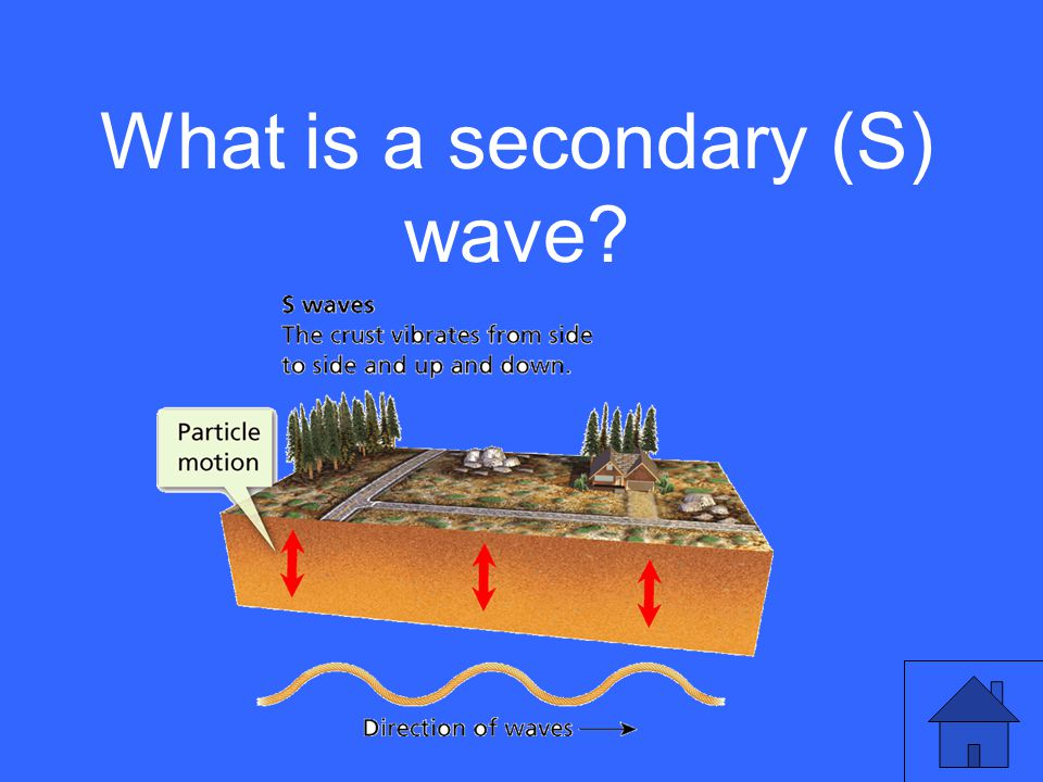 What is a secondary (S) wave?