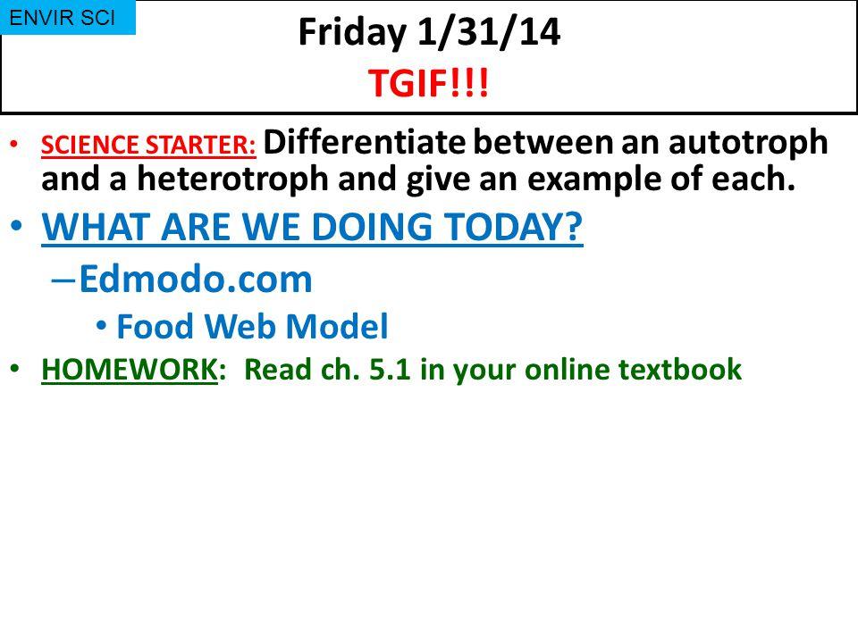 Friday 1/31/14 TGIF!!.