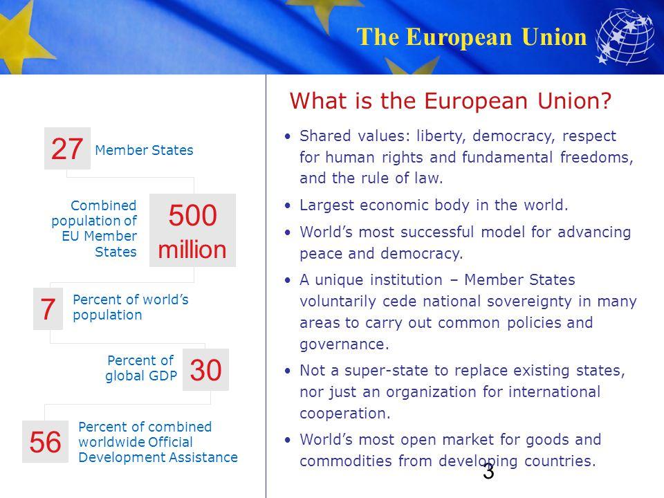 The European Union 3 What is the European Union.