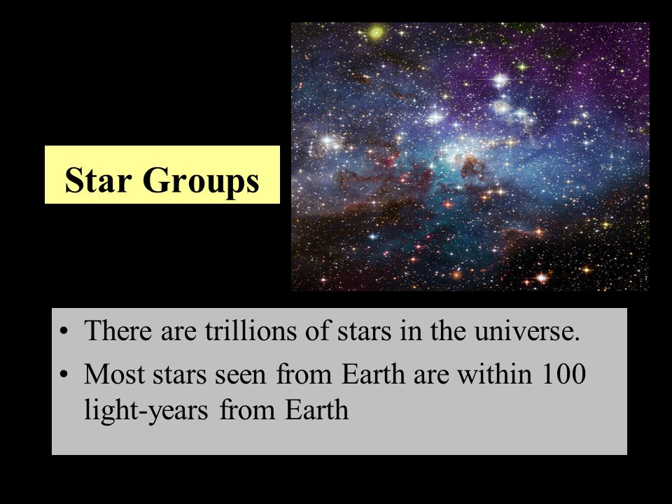 Star groups that form patterns can be identified by using a star chart The sky has been divided into 88 regions Describes the locations of celestial objects Constellation - a group of stars organized in a recognizable pattern Constellations