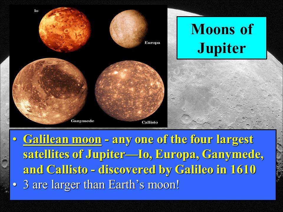 Galilean Moons Ganymede Moons of Jupiter Galilean Moon