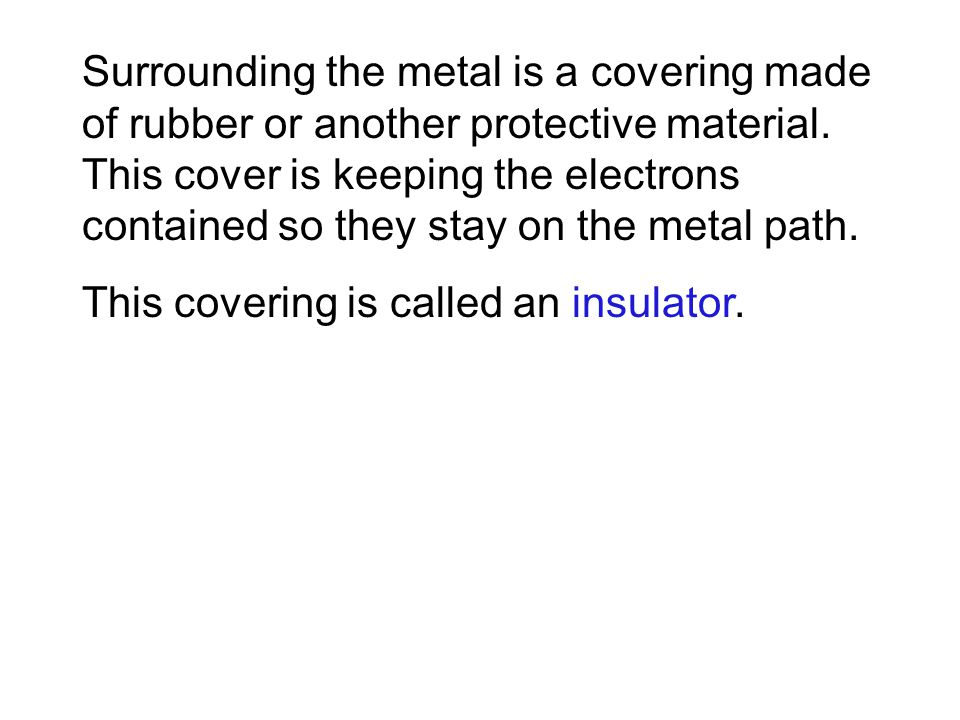 Surrounding the metal is a covering made of rubber or another protective material.